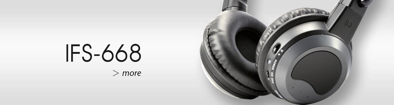 ALTEAM IFS-668 Infrared fold flat headphones in car DVD entertainment